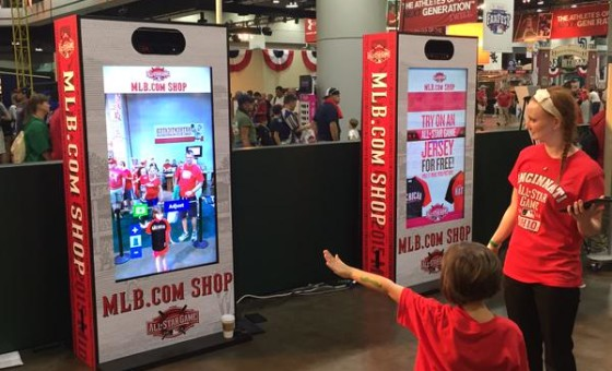 MLB Virtual Mirror Kiosks