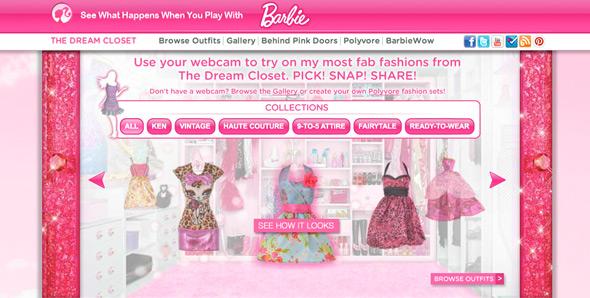 Barbie Dream Closet Web - Virtual Dressing Room - Webcam