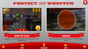 Hungry Jack's Mobile Augmented Reality Game - Tutorial Screen One