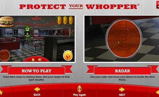 Hungry Jack Mobile Augmented Reality Game - Tutorial Page