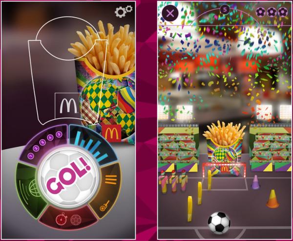 McDonald's Vuforia Image Recognition Example