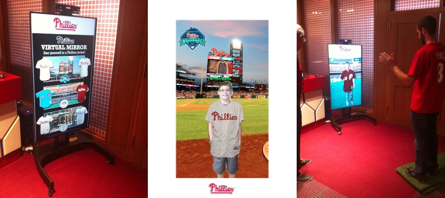 The Philadelphia Phillies Debut Virtual Jersey Try On with Kinect 2