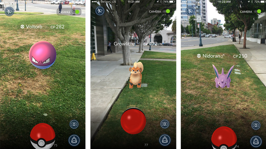 Pokemon Go Augmented Reality Geolocation