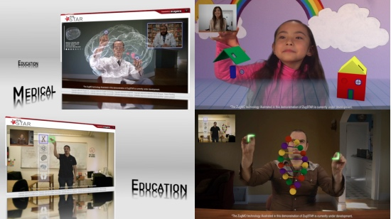 Examples of Augmented Reality Medical, Augmented Reality Gaming, and Augmented Reality Education using ZugSTAR Shared Augmented Reality Platform.