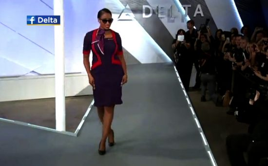 Delta Airlines Uses Augmented Reality To Unveil New Uniforms.
